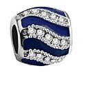 זול עגילים אופנתיים-תכשיטים DIY 1 יח חרוזים יהלום מדומה סגסוגת אדום כחול ים Tube Shape חָרוּז 0.2 cm עשה זאת בעצמך שרשראות צמידים