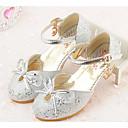 preiswerte Mädchenschuhe-Mädchen Schuhe Paillette Frühling / Herbst Komfort / Schuhe für das Blumenmädchen / Tiny Heels für Teens High Heels für Silber / Rosa