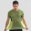 baratos Camisas, Shorts & Calças de Corrida-Homens Gola Redonda Camiseta de Corrida - Amarelo, Azul Esportes Camiseta Manga Curta Roupas Esportivas Secagem Rápida, Respirabilidade