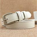 baratos Braceletes-Mulheres Trabalho Pele / Liga, Cinto para a Cintura Sólido