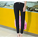 cheap Earrings-Women's Cotton Skinny Pants - Solid Colored / Spring