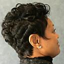 זול תחפושות מבוגרים-שיער ללא שיער שיער אנושי מתולתל / Jerry curl סגנון פאה אפרו-אמריקאית קצר הוכן באמצעות מכונה פאה בגדי ריקוד נשים / מסולסל