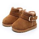 זול נעלי תינוקות-בנות נעליים עור נובוק חורף נוחות / צעדים ראשונים / מגפי שלג מגפיים ל שחור / אפרסק / חום / מגפונים\מגף קרסול