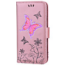 cheap Cell Phone Cases & Screen Protectors-Case For Huawei P9 Lite Huawei Huawei P8 Lite P8 Lite (2017) P10 Lite Card Holder Flip Pattern Embossed Full Body Cases Butterfly Glitter