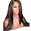 billige Blondeparykker med menneskehår-Ekte hår Helblonde / Helblonder uten lim Parykk Peruviansk hår Rett Med babyhår 130% tetthet Naturlig hårlinje / 100% Jomfru / ubehandlet Dame Kort / Medium / Lang Blondeparykker med menneskehår