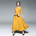 preiswerte Synthetische halbe Perücken-Damen Anspruchsvoll Street Schick Swing Kleid - Spitze, Solide Maxi