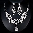 זול סטים של תכשיטים-בגדי ריקוד נשים סט תכשיטים - ארופאי, אופנתי לִכלוֹל כסף עבור חתונה / יומי