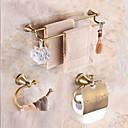 olcso Fürdőszoba tartozék készlet-Fürdőszoba tartozék szett Neoklasszikus Sárgaréz 3db - Hotel fürdő Toilet Paper Holders / torony / torony gyűrű