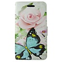 cheap Cell Phone Cases & Screen Protectors-Case For Huawei P8 Lite Card Holder Wallet with Stand Flip Full Body Cases Butterfly Flower Hard PU Leather for