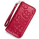 זול ארנקים-בגדי ריקוד נשים שקיות עור ארנקים רוכסן / פרח סגול בהיר / כחול כהה / Wine