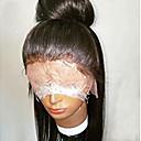 זול קוקו-שיער אנושי חלק קדמי תחרה ללא דבק / חזית תחרה פאה שיער ברזיאלי ישר פאה 130% שיער טבעי / פאה אפרו-אמריקאית / בתולה100% בגדי ריקוד נשים קצר / בינוני / ארוך פיאות תחרה משיער אנושי