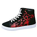 זול סניקרס לגברים-בגדי ריקוד גברים PU אביב / סתיו נוחות נעלי ספורט שחור לבן / שחור אדום / שחור / כחול
