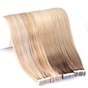 cheap Tape in Hair Extensions-Neitsi Tape In Human Hair Extensions Straight Human Hair Extensions Human Hair Women's - Beige Blonde / / Bleach Blonde Ash Brown / Strawberry Blonde / Platinum Blonde Golden Brown / Beige Blonde
