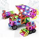 abordables Bloques magnéticos-Bloques magnéticos Azulejos magnéticos Bloques de Construcción 198 pcs Vehículos Coche Transformable Chico Chica Juguet Regalo