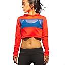 זול בגדי ריצה-בגדי ריקוד נשים טישרט לריצה - אדום ספורט קפוצ'ון / סווטשירט / צמרות שרוול ארוך לבוש אקטיבי נשימה קשיח