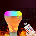 cheap LED Smart Bulbs-1set 18W 700lm E27 LED Smart Bulbs 18 LED Beads Bluetooth Dimmable Flame Effect Remote-Controlled LED Light Warm White RGB+White 100-240V