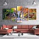cheap Rolled Canvas Prints-Canvas Print Modern, Five Panels Canvas Vertical Print Wall Decor Home Decoration