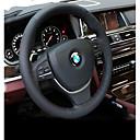 זול פנים הרכב - עשו זאת בעצמכם-כיסויים להגה עור אמיתי שחור For BMW X3 / X5 / סדרה 3 כל השנים