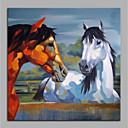 baratos Pinturas Abstratas-Pintura a Óleo Pintados à mão - Animais Modern Tela de pintura