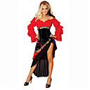 cheap Men's & Women's Halloween Costumes-Gypsy Cosplay Costume Party Costume Women's Halloween Carnival Oktoberfest Festival / Holiday Halloween Costumes Red