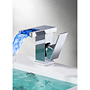 cheap Bathroom Sink Faucets-Bathroom Sink Faucet - Waterfall Chrome Centerset Single Handle One Hole