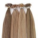 preiswerte Fusion Haarverlängerungen-Fusion / U-Spitze Haarverlängerungen Glatt Remi-Haar Brasilianisches Haar 1pack Damen Weihnachten / Hochzeit / Besondere Anlässe
