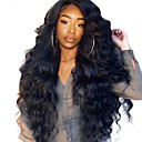 cheap Human Hair Wigs-Human Hair Lace Front Wig Brazilian Hair Body Wave Kinky Curly Wig Side Part 250% Density with Baby Hair Natural Hairline Pre-Plucked Bleached Knots Women's Medium Length Long Human Hair Lace Wig