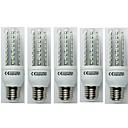 olcso Bajonettzáras LED lámpák-5pcs 9 W 720 lm E27 LED kukorica izzók T30 48 led SMD 3528 Hideg fehér AC 110-240V