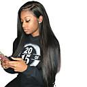 זול פיאות תחרה משיער אנושי-שיער אנושי חזית תחרה פאה שיער הודי ישר פאה עם שיער תינוקות 120% שיער טבעי בגדי ריקוד נשים קצר / בינוני / ארוך פיאות תחרה משיער אנושי