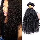 olcso Hajfonat-4 csomópont Brazil haj Kinky Curly Emberi haj Az emberi haj sző 8-28 hüvelyk Emberi haj sző Human Hair Extensions / Kinky Göndör