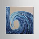 זול ציורי שמן-ציור שמן צבוע-Hang מצויר ביד - מופשט פשוט / מודרני כלול מסגרת פנימית / בד מתוח