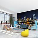 זול צִיוּר קִיר-ארט דקו 3D קישוט הבית עכשווי עיר / דגל וול כיסוי, בַּד חוֹמֶר דבק נדרש צִיוּר קִיר, Wallcovering חדר