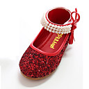 cheap Flower Baskets-Girls' Shoes Canvas Spring & Summer Comfort / Novelty / Flower Girl Shoes Flats Bowknot / Pearl / Magic Tape for Silver / Red