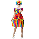 cheap PS4 Accessories-Burlesque Clown / Circus Dress / Cosplay Costume / Party Costume Women's Carnival Festival / Holiday Halloween Costumes Rainbow Color Block Party / Evening