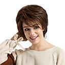 זול פיאות תחרה משיער אנושי-שיער ללא שיער שיער אנושי ישר תספורת שכבות עם פוני חלק צד קצר הוכן באמצעות מכונה פאה בגדי ריקוד נשים