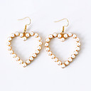 cheap Earrings-Women's Drop Earrings / Dangle Earrings - Imitation Pearl Heart Sweet, Elegant Gold / Silver For Gift / Valentine