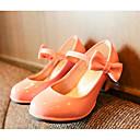 זול ג'קטים ומעילים לבנות-בנות נעליים PU אביב / סתיו נוחות / נעליים לילדת הפרחים עקבים ל שחור / אדום / ורוד