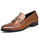 cheap Men's Slip-ons & Loafers-Men's Formal Shoes Patent Leather Spring / Fall Comfort Loafers & Slip-Ons Black / Brown / Party & Evening