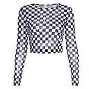 preiswerte Damen Sandalen-Damen Schachbrett-Street Schick T-shirt