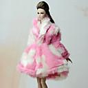 tanie Akcesoria dla lalek-Płaszcze Płaszcz Dla Lalka Barbie Blady róż Flanela Polar Płaszcz Dla Dziewczyny Lalka Zabawka