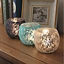 זול נרות ופמוטים-סגנון ארופאי / סגנון מינימליסטי זכוכית פמוטים 1pc, מחזיק נר / נרות