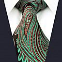 hesapli Takım Elbiseler-Erkek İş Temel Suni İpek Boyun Bağı Zıt Renkli Paisley Jakarlı