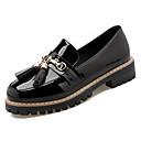 זול סטים של מברשות איפור-בגדי ריקוד נשים נעליים גומי אביב / סתיו נוחות נעליים ללא שרוכים עקב עבה לבן / שחור / בורדו