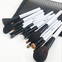 abordables Juegos de Pinceles de Maquillaje-15pcs Pinceles de maquillaje Profesional Sistemas de cepillo / Cepillo para Colorete / Pincel para Sombra de Ojos Pincel de Comadreja / Caballo Cabello De Caballo Madera