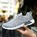cheap Men's Athletic Shoes-Men's Tulle Spring / Fall Comfort Athletic Shoes Running Shoes Black / Dark Blue / Light Grey