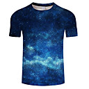 billige Luftrensere til din bil-Rund hals Herre - Farveblok Trykt mønster Plusstørrelser T-shirt