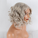 cheap Synthetic Capless Wigs-Synthetic Lace Front Wig Natural Wave Synthetic Hair African American Wig Gray Wig 20-40inch Lace Front Grey