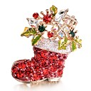 cheap Brooches-Women's AAA Cubic Zirconia Brooches - Sweet Brooch Red For Christmas / Gift / New Year