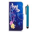 זול מגנים לטלפון & מגני מסך-מגן עבור Sony Xperia XZ Premium / Xperia XZ1 ארנק / מחזיק כרטיסים / עם מעמד כיסוי מלא פרפר קשיח עור PU ל Xperia XZ1 Compact / Sony Xperia XZ1 / Sony Xperia XZ Premium