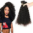 זול תוספות שיער בגוון טבעי-3 חבילות שיער ברזיאלי Kinky Curly שיער אנושי טווה שיער אדם 8-28 אִינְטשׁ שוזרת שיער אנושי תוספות שיער אדם / קינקי קרלי